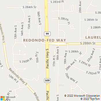 Map - Crestwood Animal Hospital - 28822 Pacific Hwy S - Federal Way, WA, 98003
