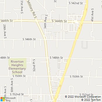 Map - Airport Veterinary Clinic - 14636 Military Rd S - Seattle, WA, 98168
