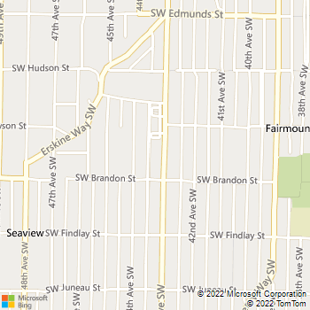 Map - VCA West Seattle Hospital - 5261 California Ave SW - Seattle, WA, 98136