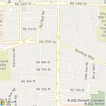 Map - Companion Animal Hospital - 1827  156th Avenue N.E. - Bellevue, WA, 98007