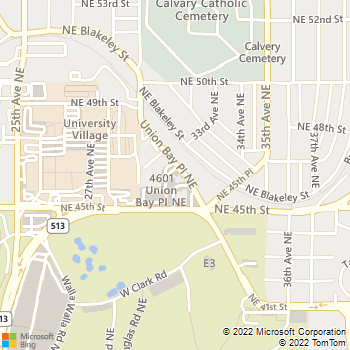Map - Ravenna Animal Hospital - 4541 Union Bay Pl. NE - Seattle, WA, 98105