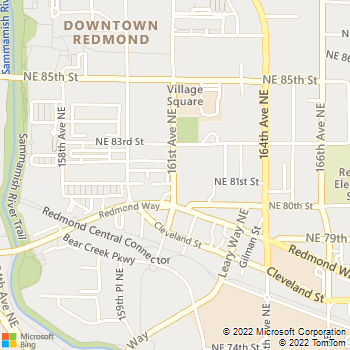 Map - Tender Touch Small Animal Hospital - 8102 161st Ave NE - Redmond, WA, 98052