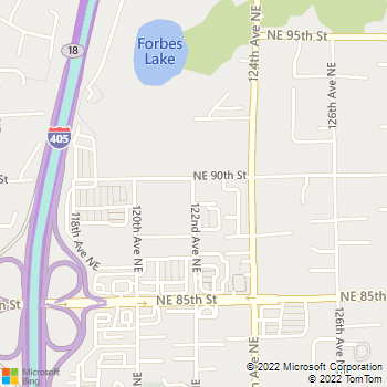 Map - Eastside Veterinary Associates - 8934 122nd Ave NE - Kirkland, WA, 98033