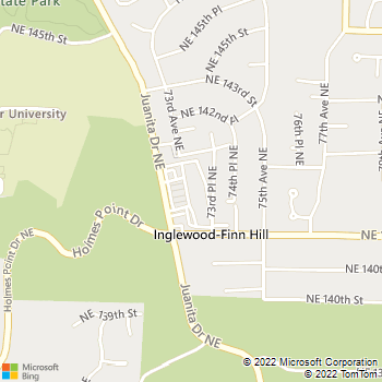 Map - Finn Hill Animal Hospital - 14130 Juanita Dr NE - Kirkland, WA, 98034