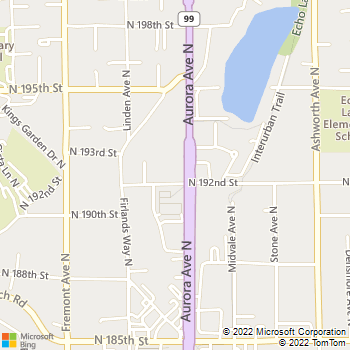 Map - Cats Exclusive Veterinary Center - 19203 Aurora Ave N - Seattle, WA, 98133