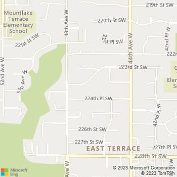 Map - Plumb Pro's, LLC - 4610 223rd Street Southwest - Mountlake Terrace, WA, 98043