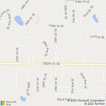 Map - Sound Plumbing and Heat - 17826 29th Drive Southeast - Bothell, WA, 98012
