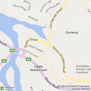 Enniskillen Library location map