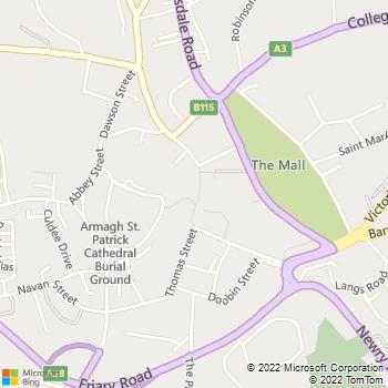 Armagh City Library location map