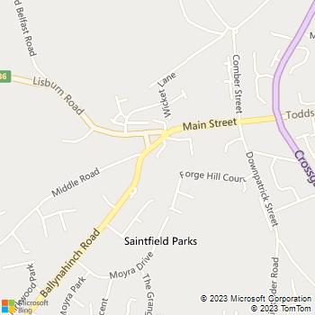 Saintfield Library location map