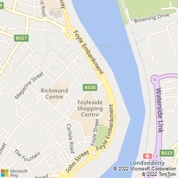 Derry Central Library location map