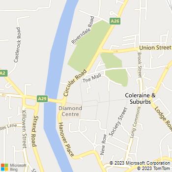 Coleraine Library location map